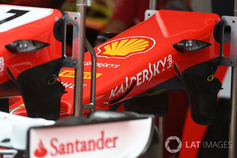Detalle del morro del Ferrari SF70-H