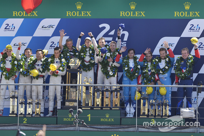 Podium: 1. Porsche #2; 2. Jackie Chan DC #38; 3. Vaillante Rebellion #13 (sebelum didiskualifikasi)