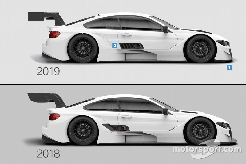 Vergleich: BMW M4 DTM 2019 vs. 2018