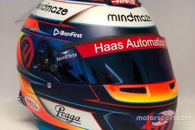 Présentation du casque de Romain Grosjean