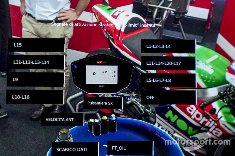 Un casque à réalité augmentée des mécaniciens Aprilia Racing Team Gresini