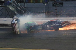 Justin Fontaine, Toyota, Codie Rohrbaugh, Dodge, Bobby Gerhart, Chevrolet crash