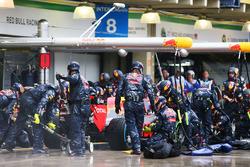 Макс Ферстаппен, Red Bull Racing RB12 робить піт-стоп