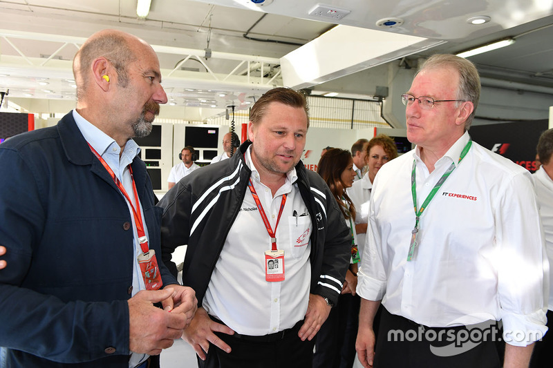 Norman Howell, Formula One Director of Global Communications and Jonathan Nicholas, FOM