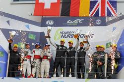 Подіум LMGTE Am : переможці Dempsey Proton Competition, Spirit of Race, Aston Martin Racing