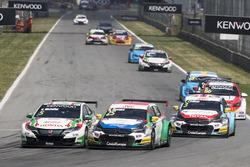 Norbert Michelisz, Honda Racing Team JAS, Honda Civic WTCC, Mehdi Bennani, Sébastien Loeb Racing, Citroën C-Elysée WTCC