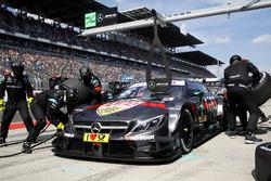 Pit stop, Robert Wickens, Mercedes-AMG Team HWA, Mercedes-AMG C63 DTM