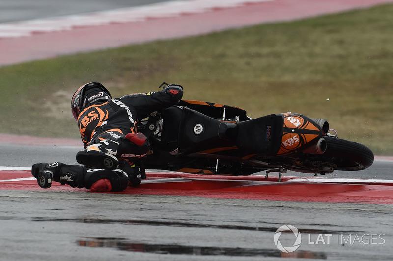 Adam Norrodin, SIC Racing Team, caída