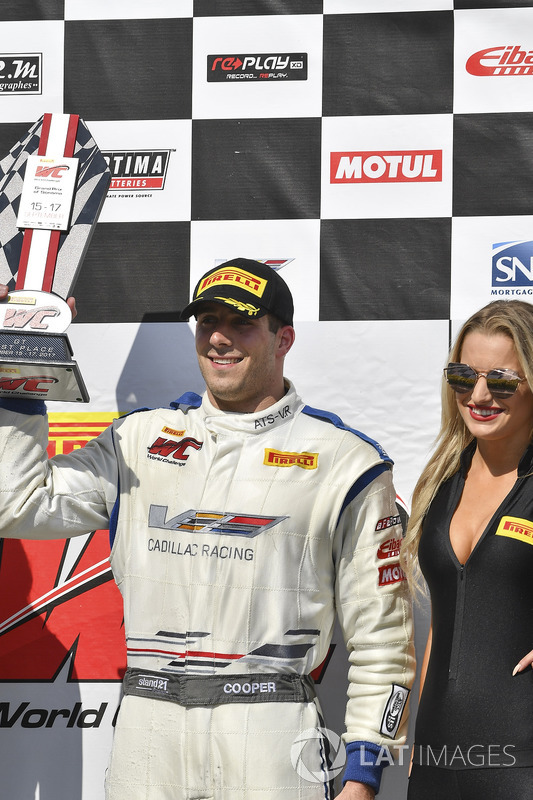 Podium: race winner Michael Cooper, Cadillac Racing