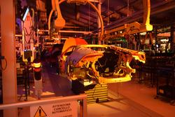 Lamborghini Huracan sulla linea di produzione