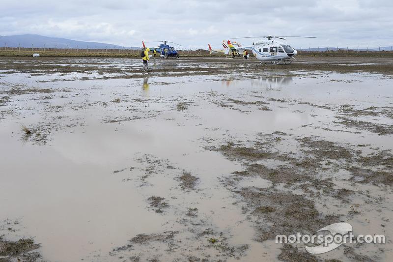 Inundaciones en el vivac en Oruro