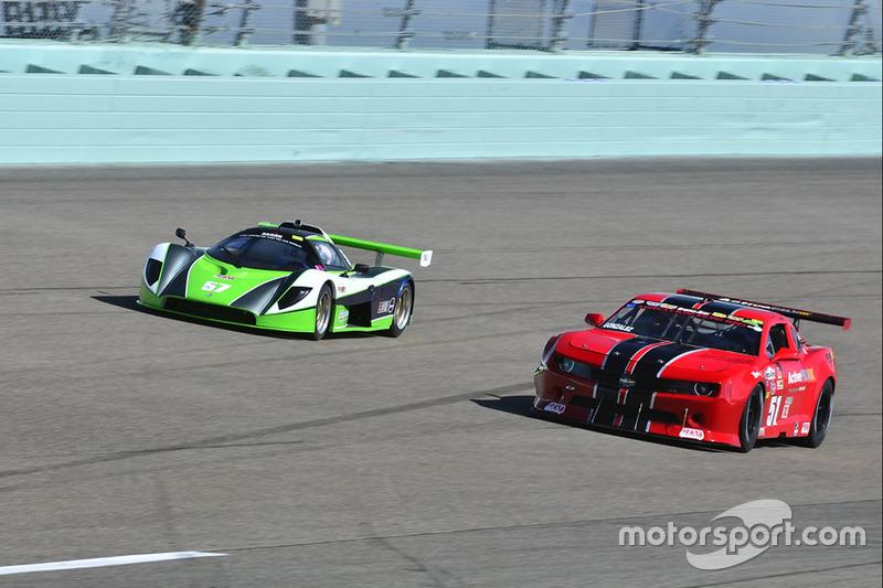 #51 MP1B Chevrolet Camaro driven by Joe Gonzalez of ACAR 4U Racing, #57 FP2 Saker driven by James Cunning & Dan Moon of Saker Racing