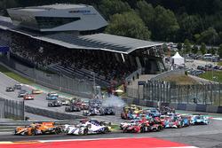 #22 G-Drive Racing, Oreca 07 - Gibson: Memo Rojas, Nicolas Minassian, Leo Roussel leads at the start of the race