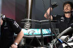 Détails du T-wing de la Mercedes AMG F1 W08