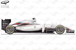 Williams FW36 side view
