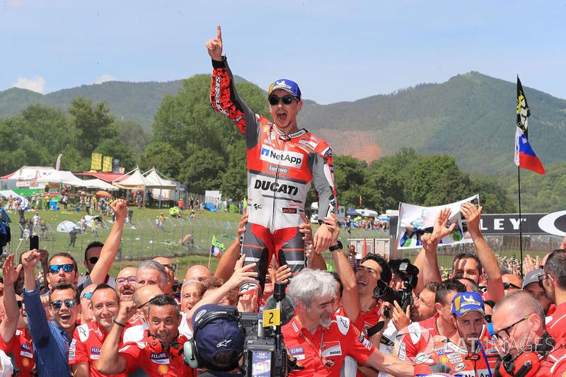 Race winner Jorge Lorenzo, Ducati Team