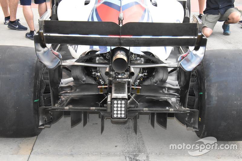 Williams FW41 diffuser detail