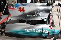 Mercedes F1 W08: Motorenabdeckung
