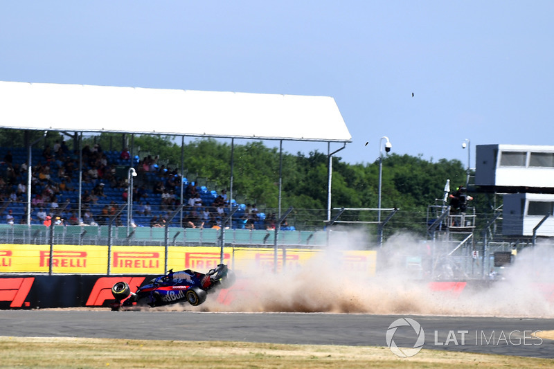 Hartley after his spectacular suspension failure in final practice