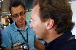 Джонатан Нобл бере інтерв'ю у Крістіана Хорнера, боса Red Bull Racing