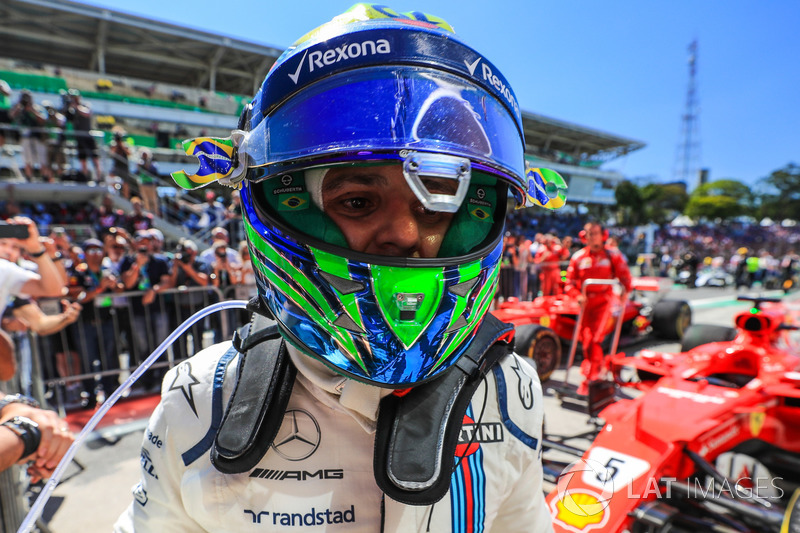 Felipe Massa, Williams celebra en parc ferme
