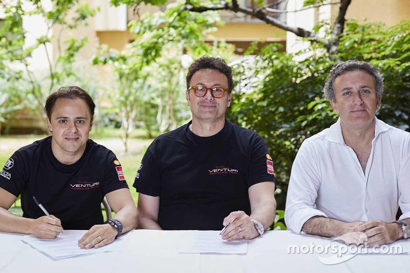 Felipe Massa signs with Venturi, Alejandro Agag