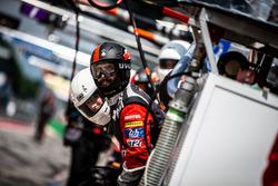 TDS Racing mechanic in the pitlane