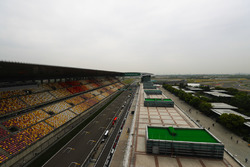 An scenic view of the pit straight