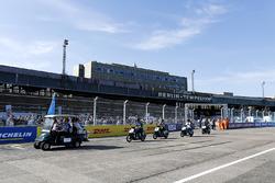 Sébastien Buemi, Renault e.Dams, Nicolas Prost, Renault e.Dams, on the drivers parade