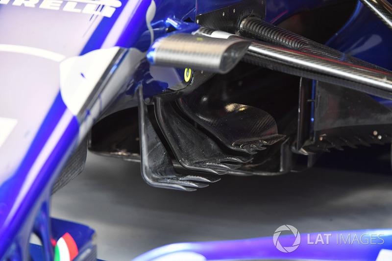 Detalle aerodinámico del STR13 Scuderia Toro Rosso