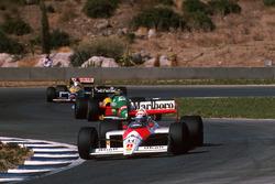 Alain Prost, McLaren MP4/4, Thierry Boutsen, Benetton B188, Nigel Mansell, Williams FW12