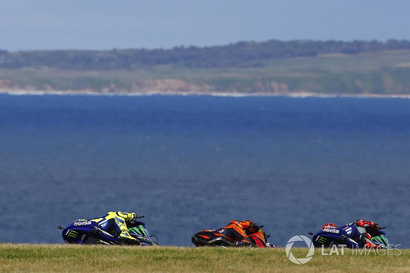 Maverick Viñales, Yamaha Factory Racing, Pol Espargaro, Red Bull KTM Factory Racing, Valentino Rossi, Yamaha Factory Racing
