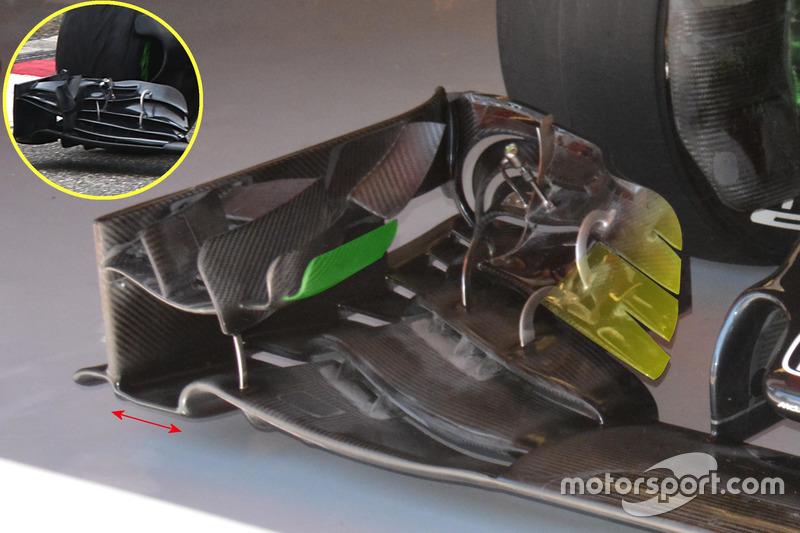 Детали переднего крыла McLaren MP4-31