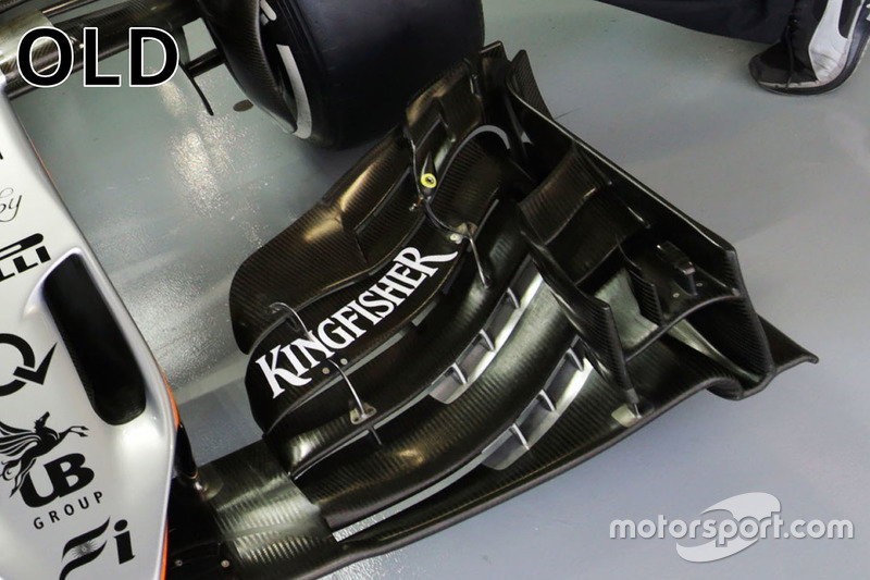 Sahara Force India F1 VJM09 old front wing detail