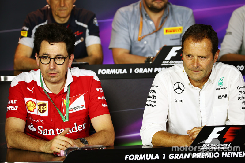 Mattia Binotto, Ferrari Teknik Şefi Aldo Costa, Mercedes AMG F1 Mühendislik Dİrektörü