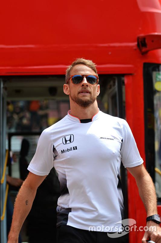 Jenson Button, McLaren, bei der Fahrerparade