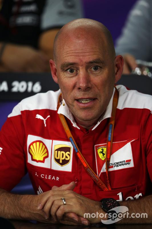 Jock Clear, Ferrari Engineering Director in the FIA Press Conference