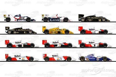 Os carros de Ayrton Senna