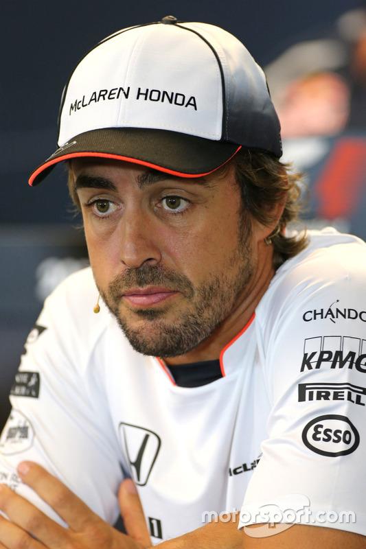 Fernando Alonso, McLaren Honda nella Conferenza Stampa FIA