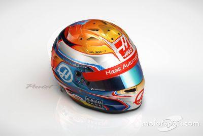Présentation du casque 2016 de Romain Grosjean