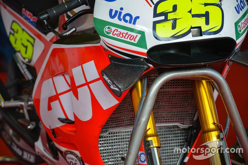 Cal Crutchlow, Team LCR Honda, dettaglio della moto