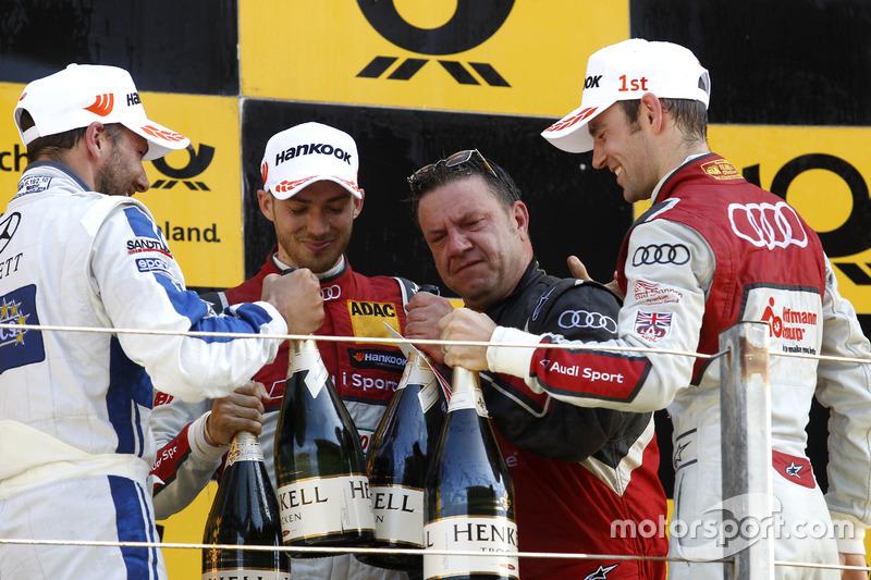 Podium: Gary Paffett, Mercedes-AMG Team ART, Mercedes-AMG C63 DTM; Edoardo Mortara, Audi Sport Team