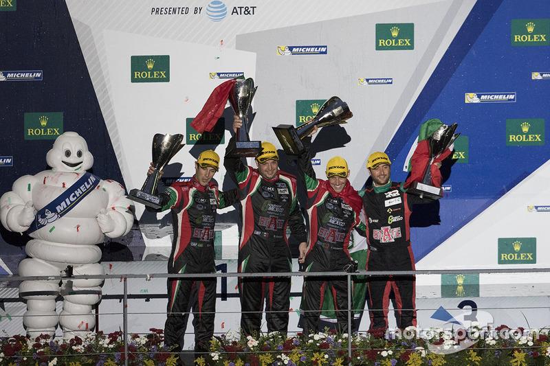 Podio LPM2: Ganador de la carrera Ricardo González, Filipe Albuquerque, Bruno Senna RGR Sport by Morand