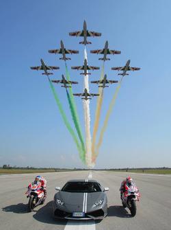 Andrea Dovizioso, Ducati Team, Michele Pirro, Ducati Team y Mirko Bortolotti