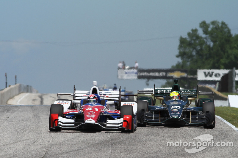 Jack Hawksworth, A.J. Foyt Enterprises Honda, Spencer Pigot, Ed Carpenter Racing Chevrolet