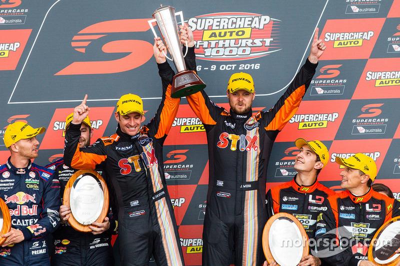 Podium: 1. Will Davison, Jonathon Webb, Tekno Autosports, Holden