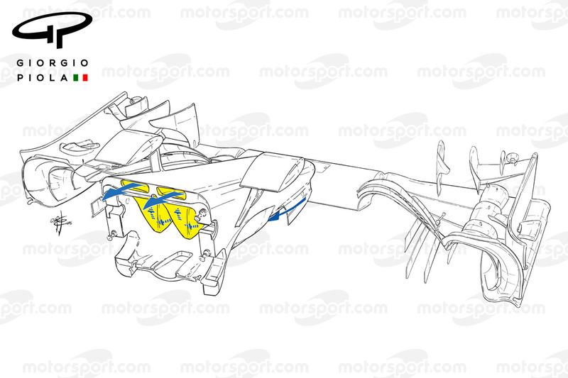 Mercedes W07 nariz, contorno
