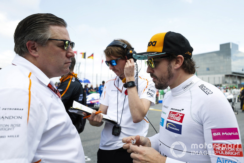 Зак Браун, McLaren Racing, та Фернандо Алонсо, McLaren