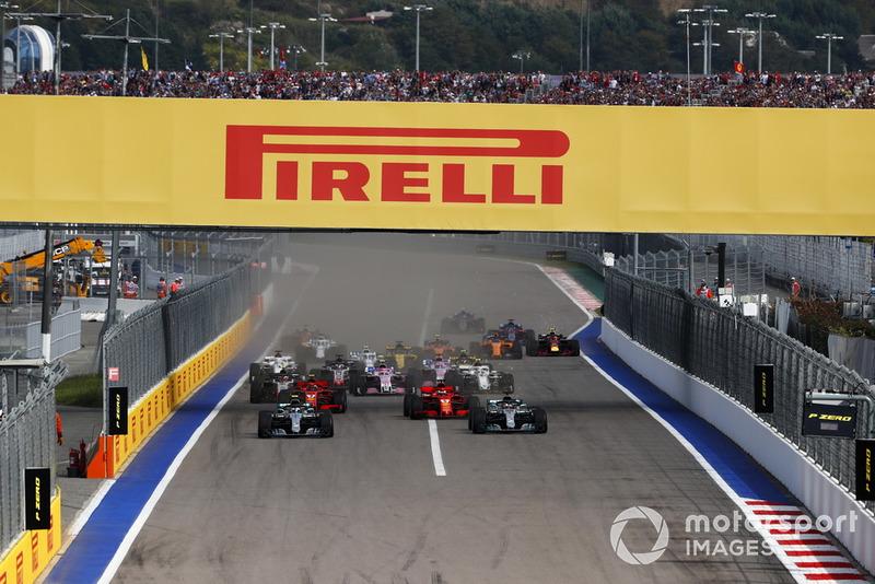 La salida del GP de Rusia