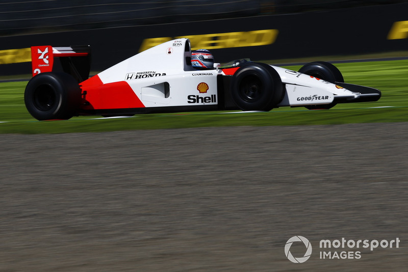 Une McLaren lors des Legends F1 30th Anniversary Lap Demonstration